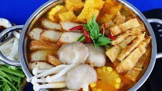 Cách nấu LẨU CHAY KIỂU THÁI chua chua cay cay siêu ngon - Món Ăn Ngon