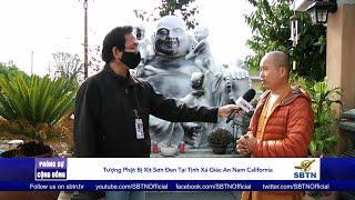 PHÓNG SỰ CỘNG ĐỒNG: Tượng Phật bị xịt sơn đen tại Tịnh xá Giác An, Nam California
