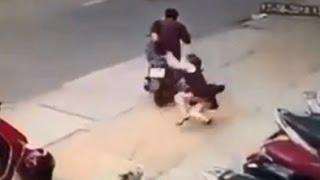 Những vụ cướp giật táo tợn trên đường phố 2015