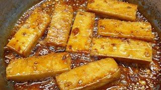 ĐẬU HŨ KHÌA NƯỚC DỪA mặn ngọt béo món chay ngon tuyệt - món ngon dễ làm
