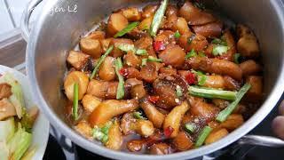 NẤM ĐÙI GÀ KHO TIÊU | Nấm xào Cà chua - Món Chay - Món ăn giải ngán sau TẾT by Vanh Khuyên