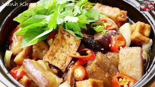 CÀ TÍM KHO TỘ - Ngon bổ rẻ ĐẬU HỦ Cà Tím Kho Chay thơm ngon Chay hay mặn đều ăn được by Vanh Khuyen