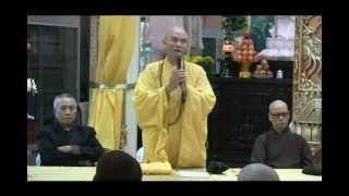 HT Thích Quảng Thanh họp báo tại chùa Huệ Quang #01