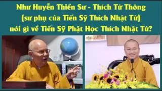 Như Huyễn Thiền Sư Thích Từ Thông nói gì về đệ tử Thích Nhật Từ? (Souce: Facebook Thầy Tuấn Ngọc)