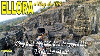 Sốc trước các hang động tôn giáo lớn nhất TG🕉️Hành hương ELLORA 1.500 tuổi